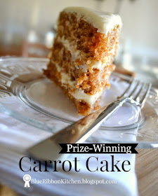 Blue Ribbon Carrot Cake Karri Perry