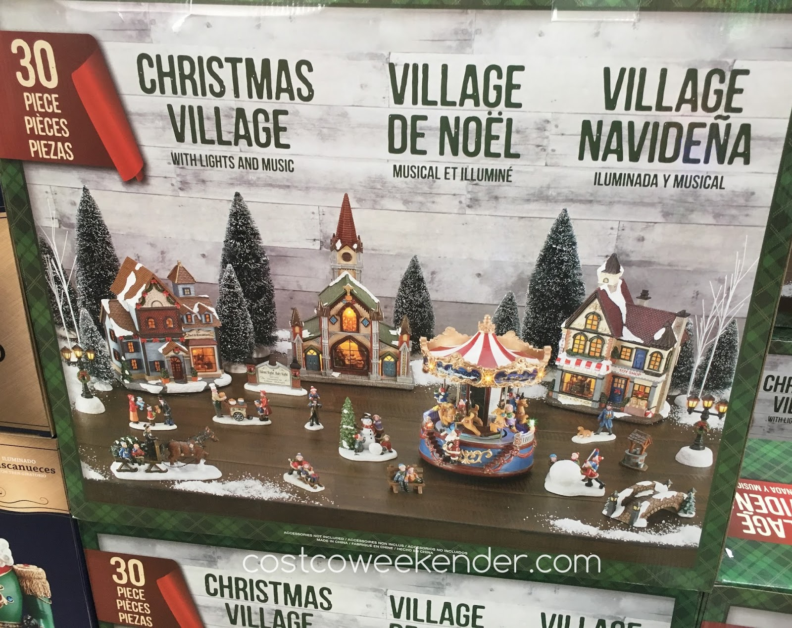 Make your home more festive with the Christmas Village with Lights and Music