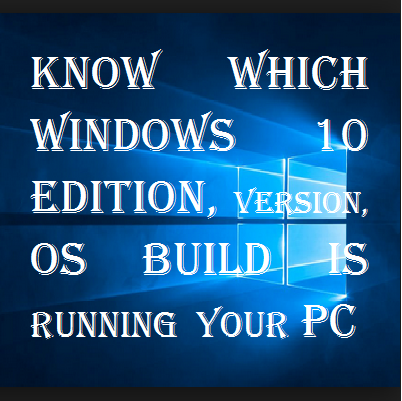 Know which window running on your PC