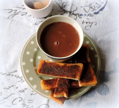 Hot Chocolate & Cinnamon Toast