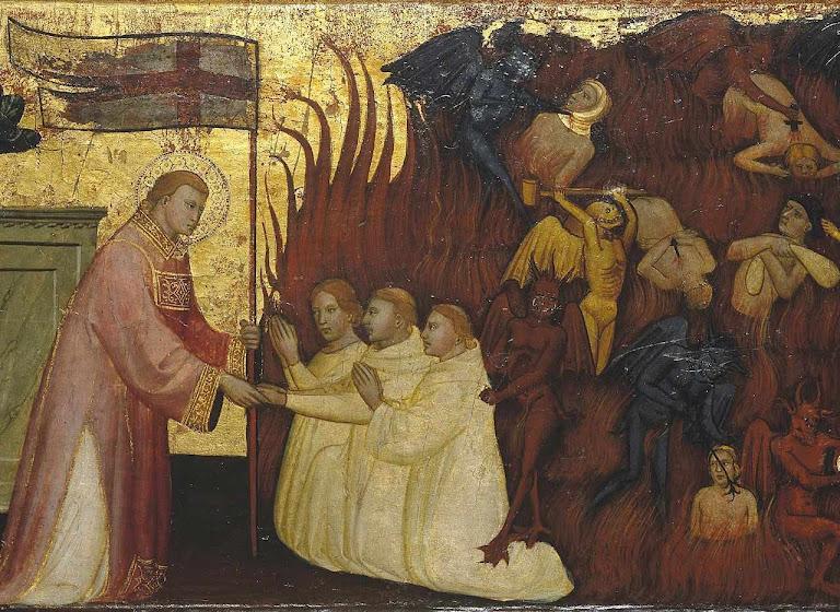 São Lourenço libera almas do Purgatório. Lorenzo di Nicolò