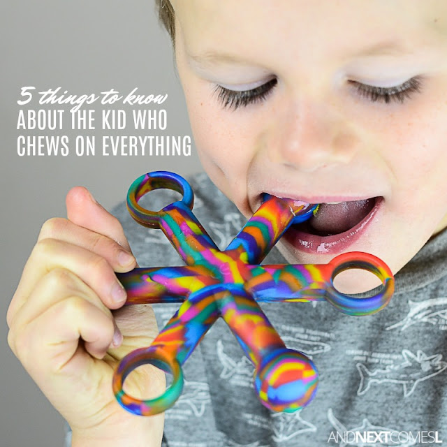 Why does my kid chew on everything?