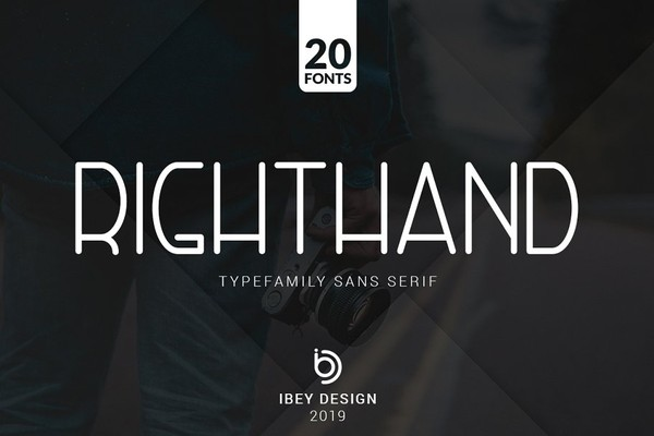 RightHand Sans Serif Fonts