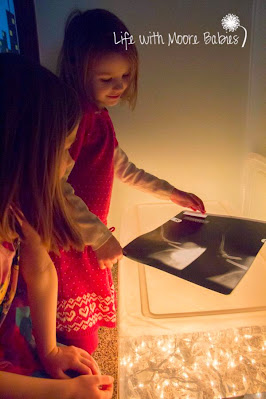 Use a light box to look at x-rays