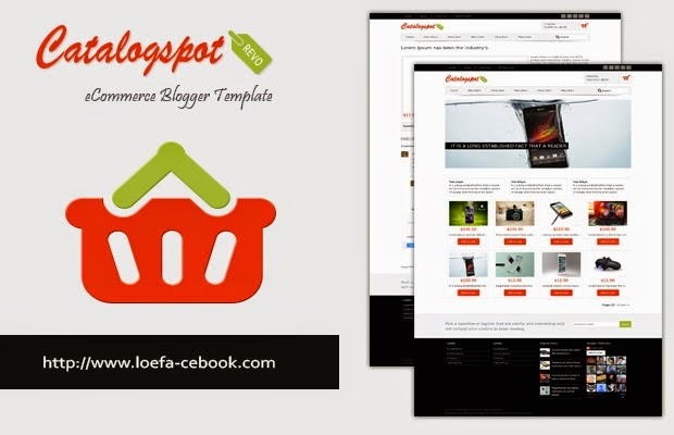 Shopping Cart Blogger Template for online store - Tips and Tricks