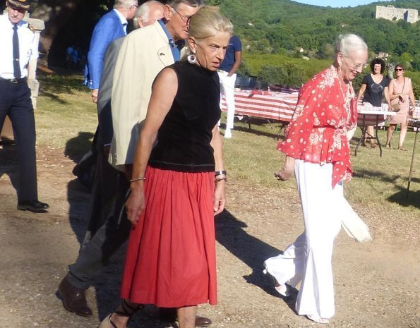 Queen Margrethe II attended the concert. American pianist Alan Gampel for the benefit of Issia Association at Cayrou Castle