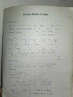 Jineman Mendes Slendro Sanga (Cakepan dan Foto Notasi)