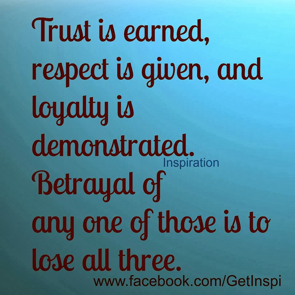 Inspirational And Random Quotes Trust Respect Loyalty