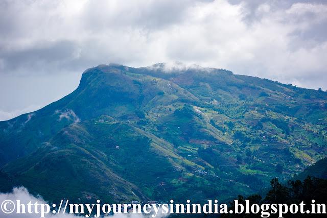 Pallangi Falls and Village seen from Palani View Point Kodaikanal