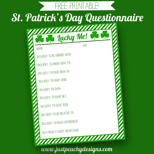 St. Patrick's Day Questionnaire