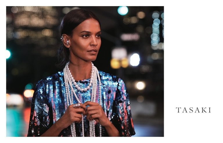 Liya Kebede fronts Tasaki Jewelry 2018 campaign