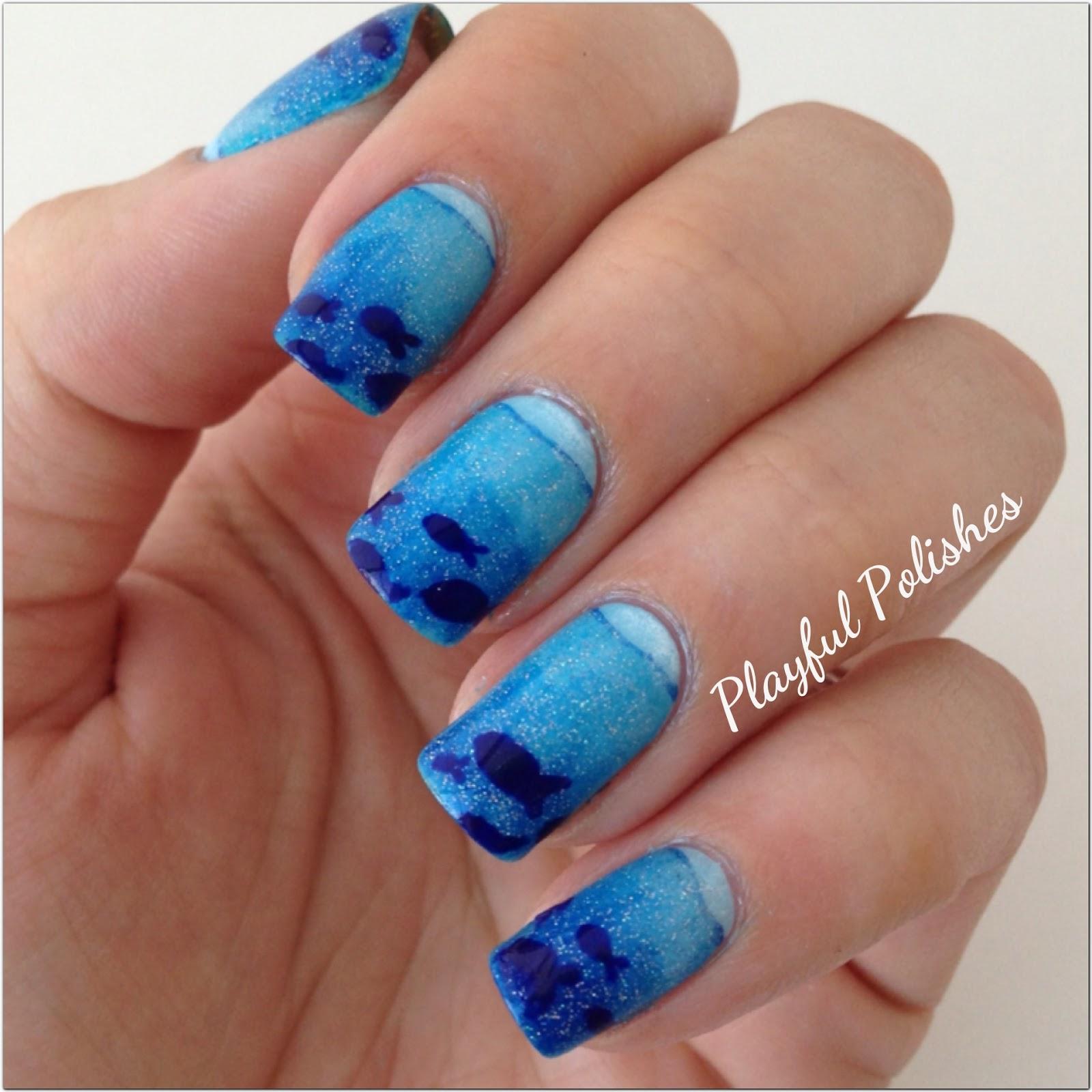 Playful Polishes: JUNE NAIL ART CHALLENGE: OCEAN NAILS