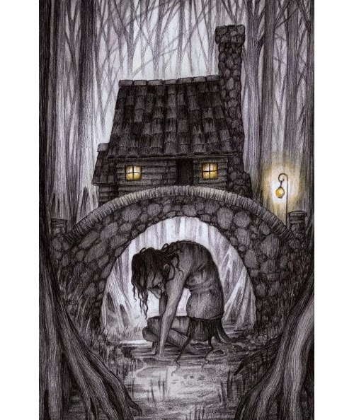 14-The-Cottage-In-The-Swamp-Adam-Oehlers-Illustrations-and-Drawings-from-Oehlers-World-www-designstack-co
