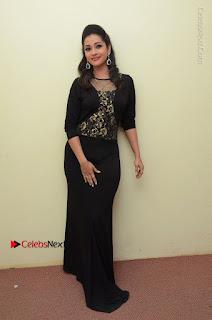 Telugu Actress Manasa Manohar Stills in Black Long Dress at Naku Nene Thopu Turumu Trailer Launch  0066.JPG