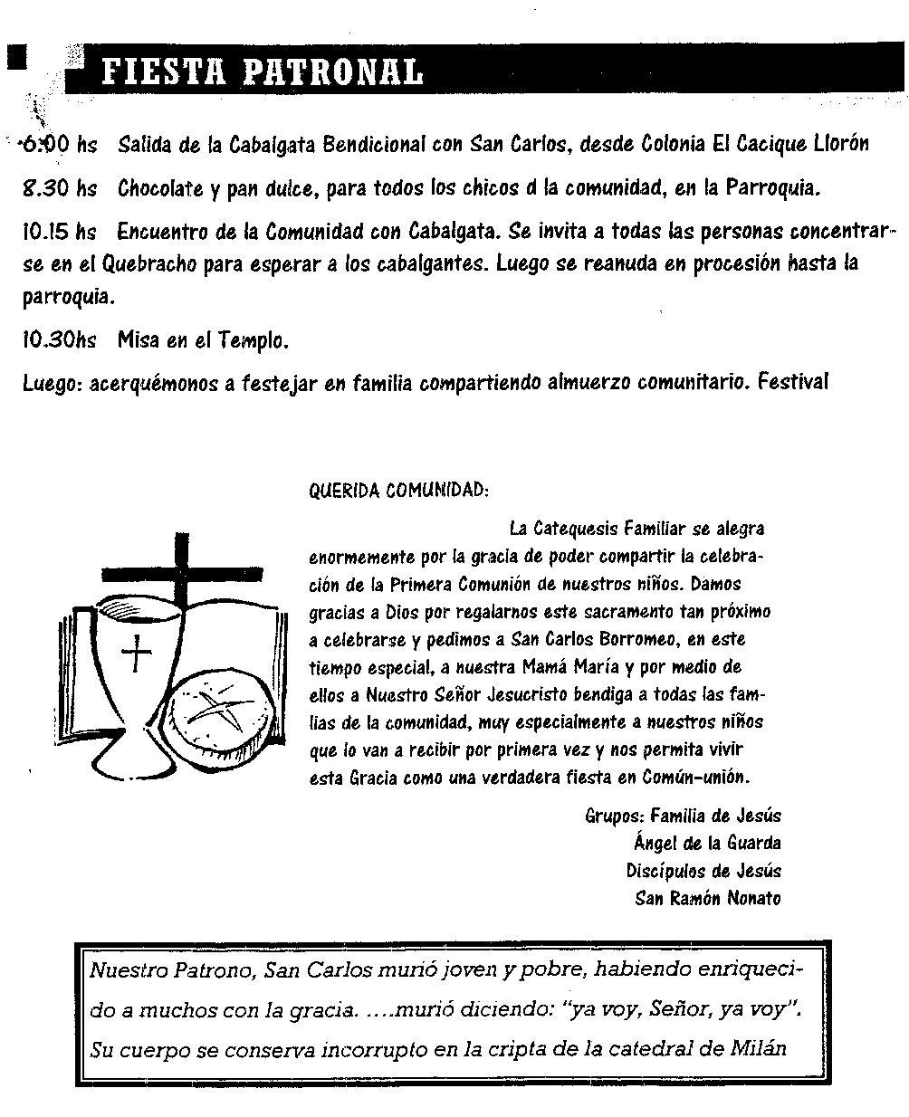 To Da Loos November 2011: La Escondida Chaco Ciudad Jardín: Fiestas Patronales 4 Nov