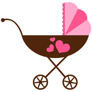 Baby Carriages of the Baby on the Way Clip Art.