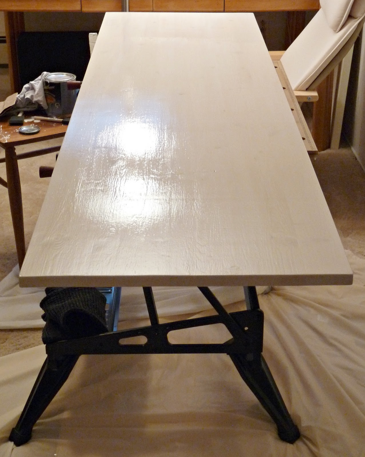 desk with clayton metal legs table