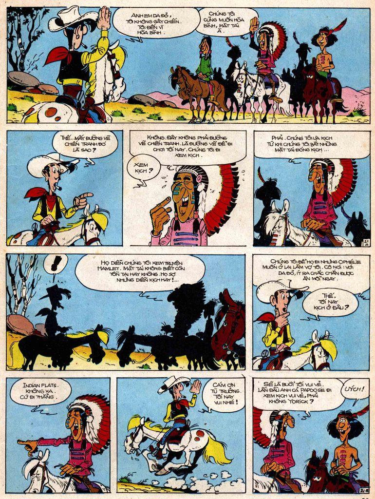 Lucky Luke tap 18 - ki si ao trang trang 21