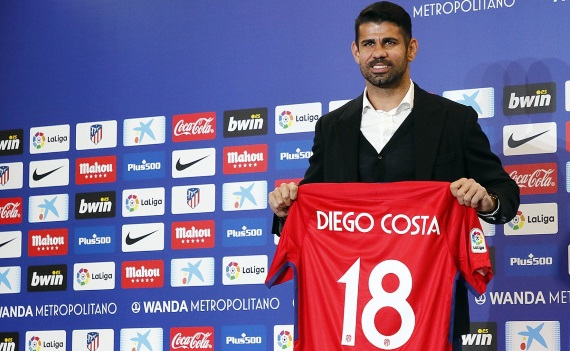 Atletico Madrid's Diego Costa will be raring to make his long-awaited debut since rejoining from Chelsea