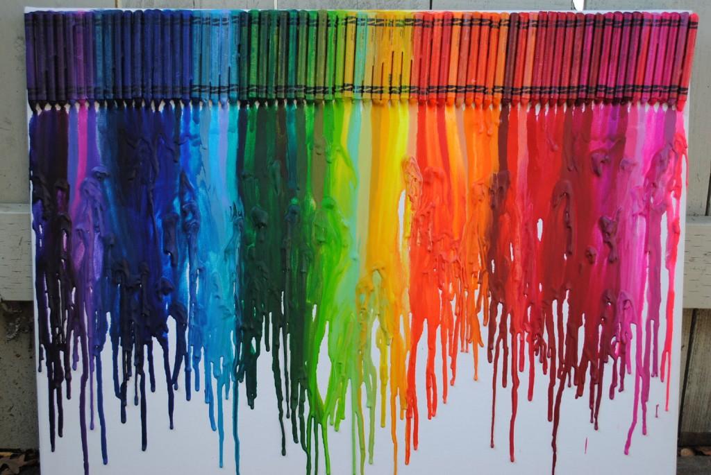 Crayon Melting Art Designs