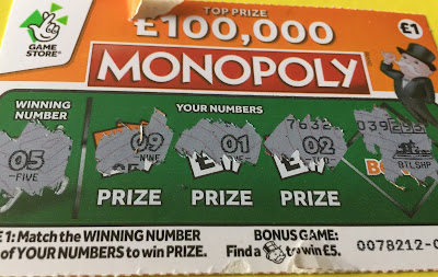 £1 Monopoly National Lottery Scratch Card