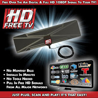 As Seen on TV HD-12 HD Clear Vision Ultra-Thin High Performance Indoor HDTV Antenna