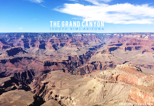 The Grand Canyon, South Rim, Arizona. Shared on CreativelyCurated.com #creativelycurated #grandcanyon #places