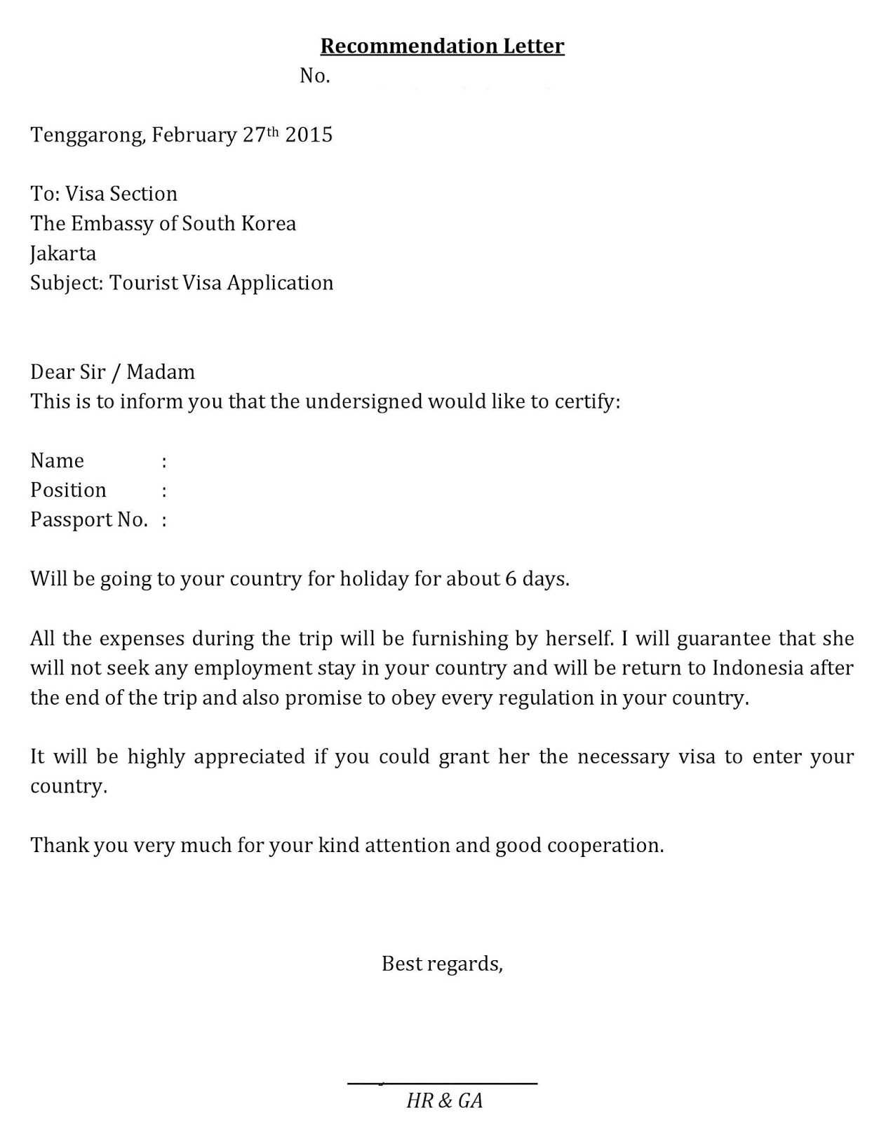 contoh surat sponsor untuk visa dalam bahasa inggris surat f