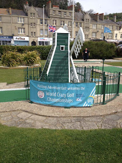 The windmill hole at Hastings. One of the 18-holes competitors will have to tackle in the World Crazy Golf Championships