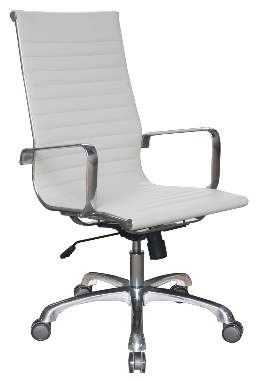 Joplin Ribbed White Leather Chair by Woodstock
