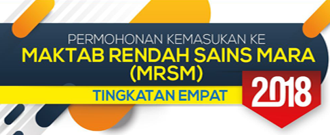 Semakan permohonan MRSM 2018 Tingkatan 4 Online