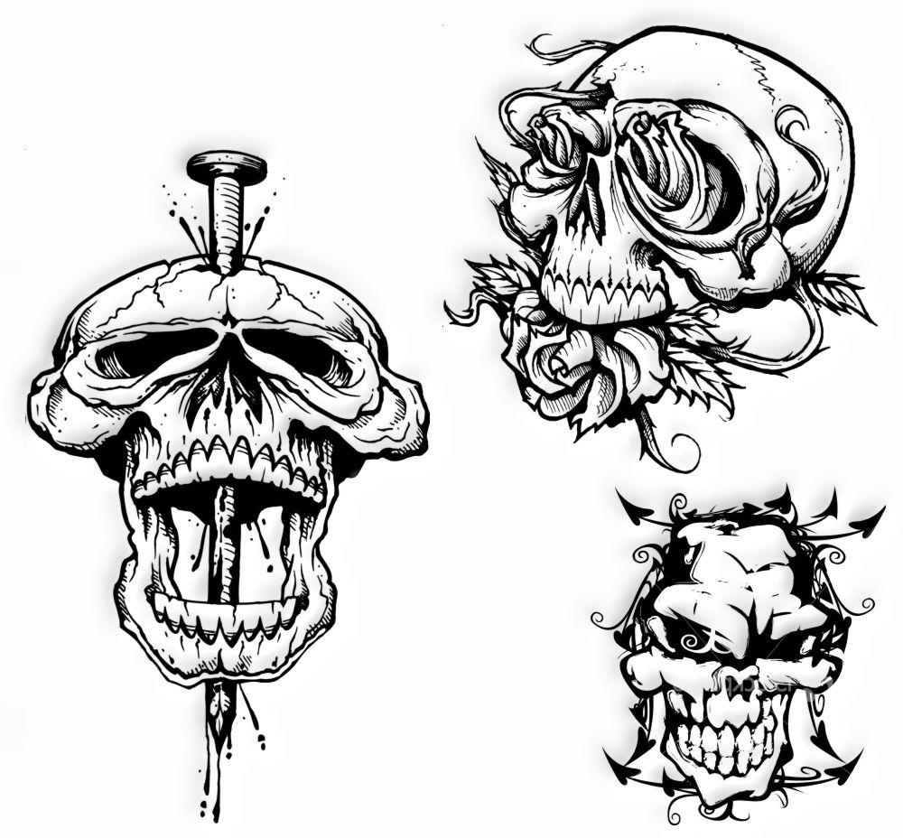 Tatuaż Wzory Tatuaży Czaszki Tatuaże