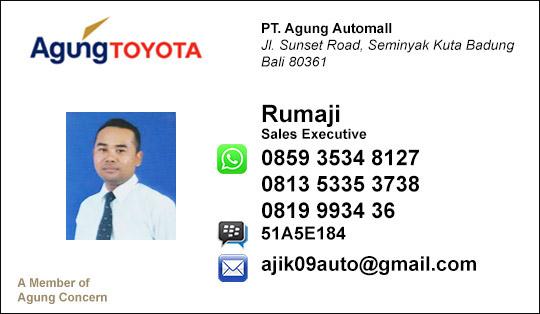 Rekomendasi Sales Agung 2016 Toyota Denpasar Bali