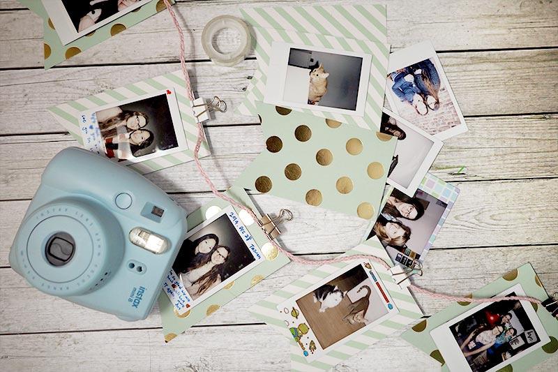 KuneCoco • DIY • Polaroid Wimpelkette • Instax Mini 8