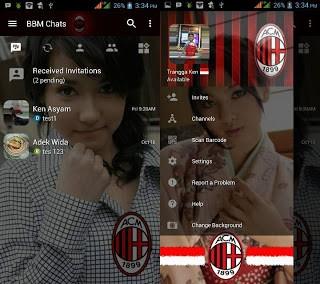 Download BBM Transparan AC Milan v3.1.0.13 APK