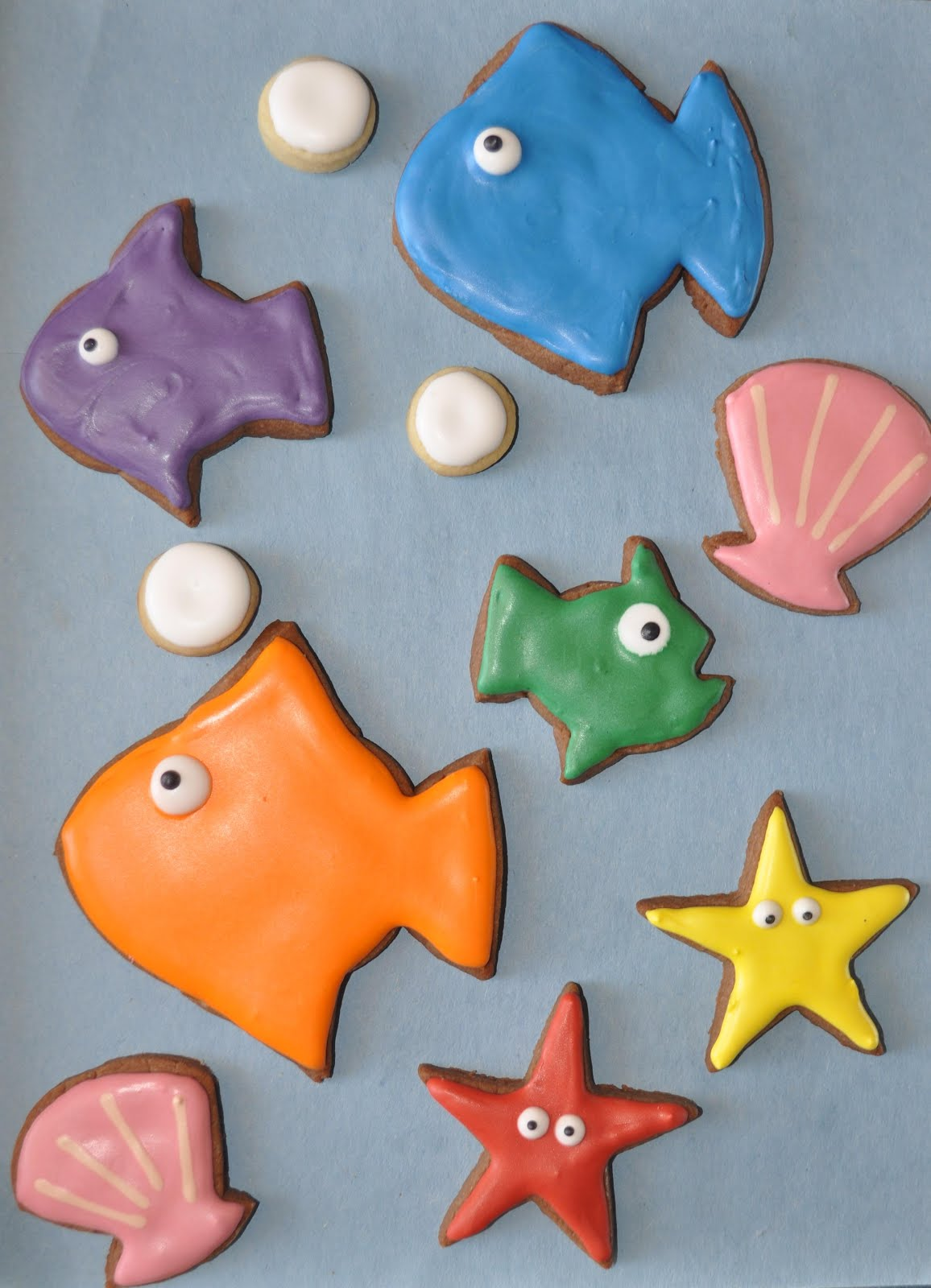 How To Make Fish Cookies Using A Round Cutter Suz Daily
