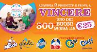 Logo Concorso ''Contenti e Insieme SCJohnson - 300 Buoni spesa da 25€''