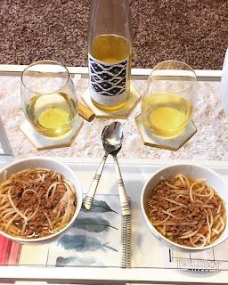Wine Vinyasa Muscat Canelli wine and Sichuan Dan Dan Noodles recipe | brazenandbrunette.com
