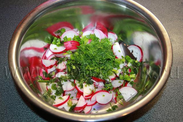 рецепт салата с редисом с пошаговыми фото