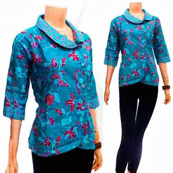 Model Baju Batik Semi Formal: Blouse Batik Semi Formal, Cocok Buat Ngantor, Oktober 2013
