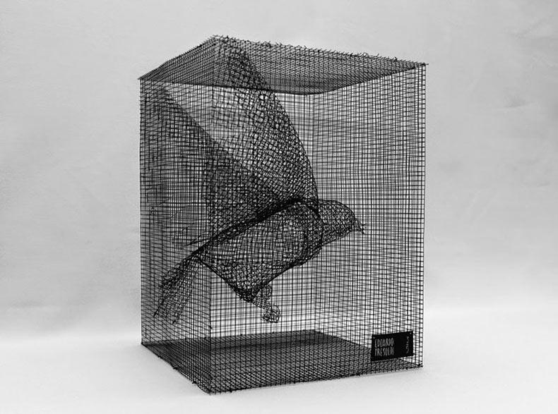 Esculturas figurativas de mallas de alambre de Eduardo Tresoldi