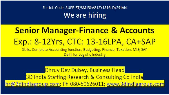 3D India Group ! Career Blogger ! 400+ Jobs I hr@3dindiagroup com I