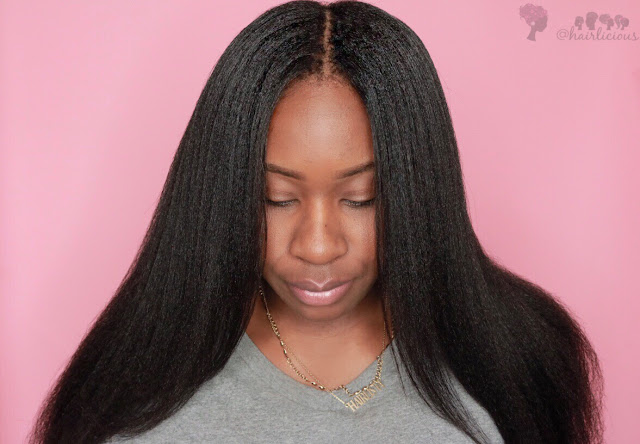 Straightening My 11 Weeks Post Relaxed Hair with Mielle Organics Mongongo Oil Collection | HairliciousInc.com