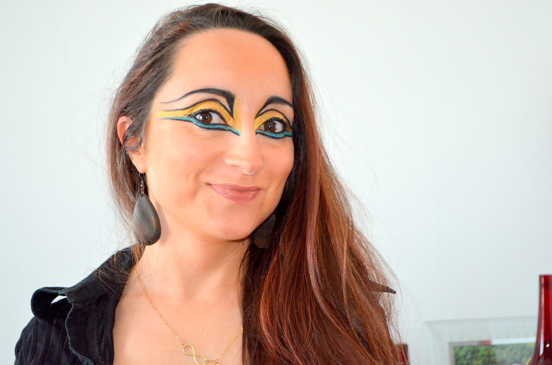 maquillage creatif - maquillage adulte -maquillage indienne - maquillage indienne d'amerique