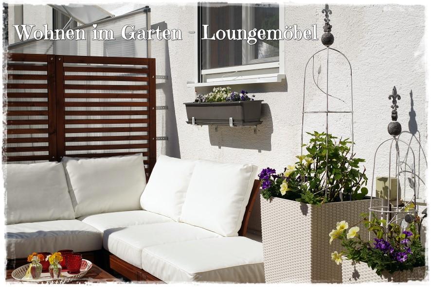 Ein Wohnzimmer für den Garten - jetzt stehen auch bei uns ...
