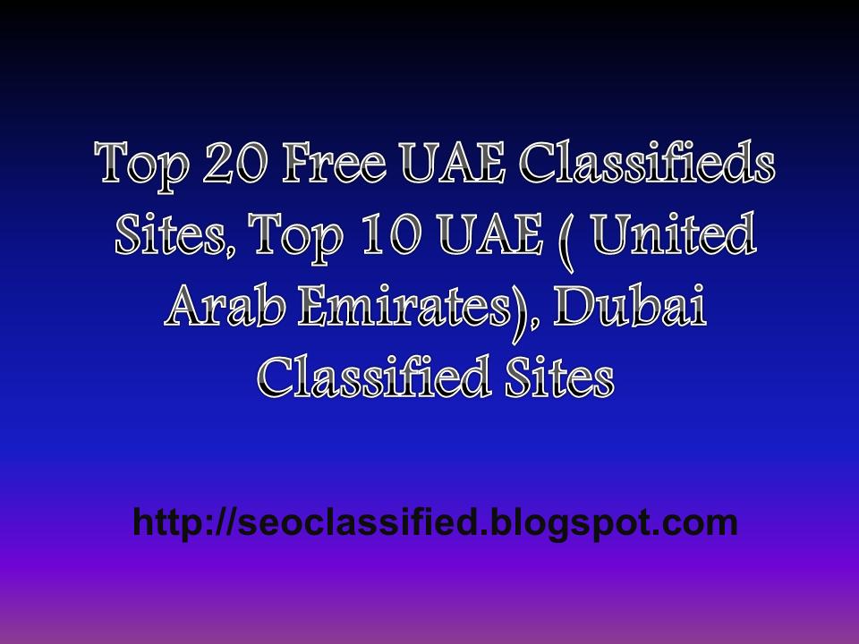Top 20+ Free UAE Classifieds Sites | 30 Best UAE (United Arab