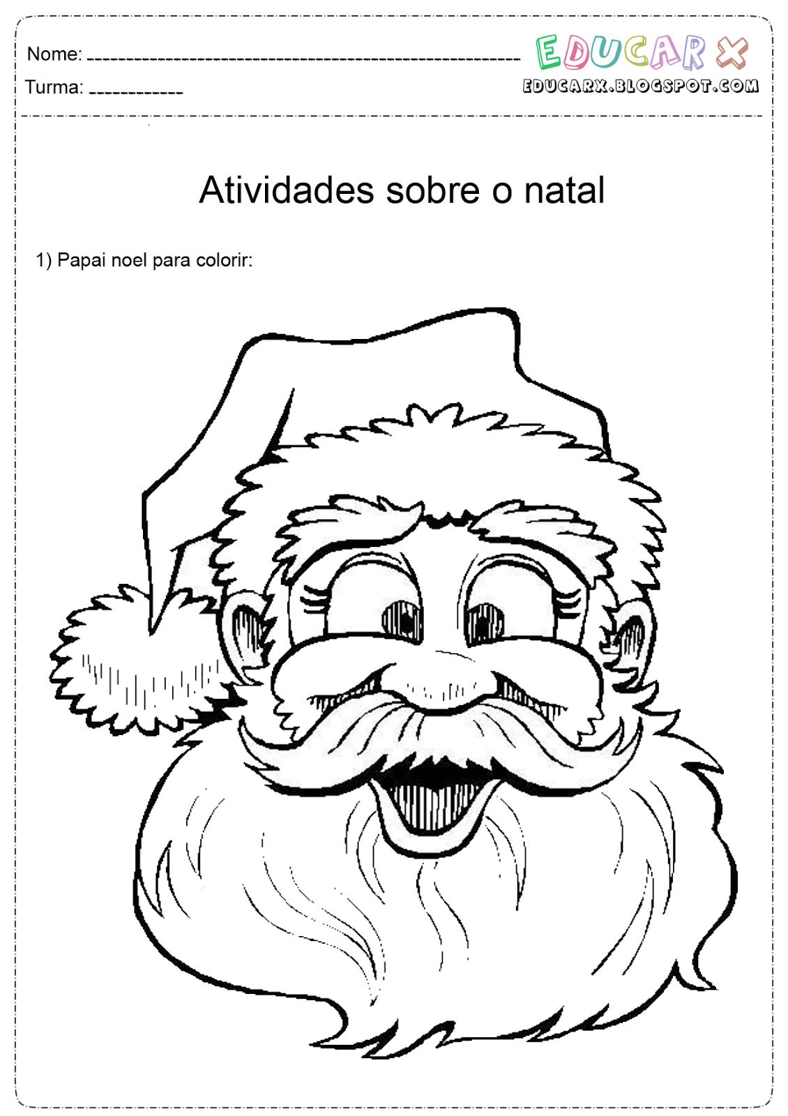 Jornal Ponto Com Papai Noel Para Colorir E Pintar