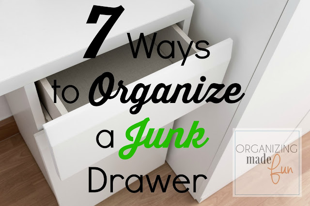 7 Ways to Organize a Junk Drawer :: OrganizingMadeFun.com