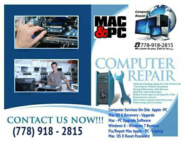 Computer Service Mac / PC Laptop repair recovery software ...