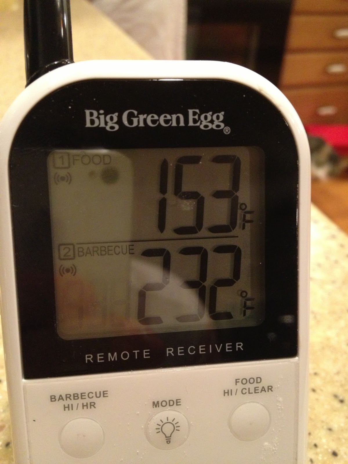 Food Thermometer Big W Weekend Food Project Brisket On The Big Green Egg